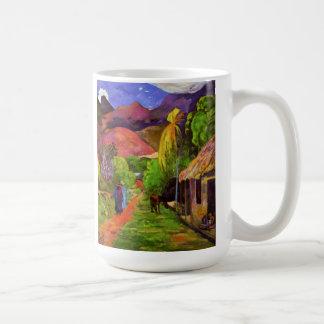 Camino de Gauguin en la taza de Tahití