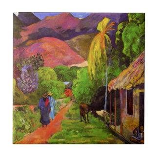 Camino de Gauguin en la teja de Tahití