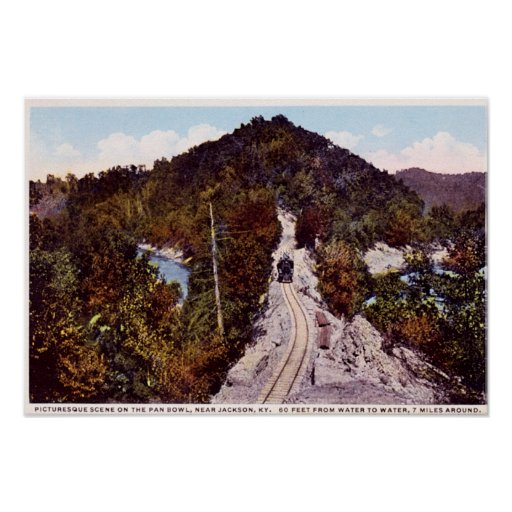 Camino de Jackson Kentucky Panbowl Póster