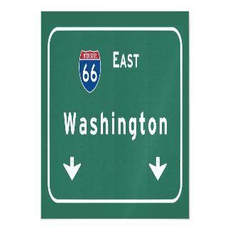 Camino de la autopista sin peaje de la carretera invitaciones magnéticas
