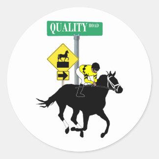 Camino de la calidad pegatina redonda