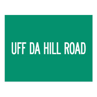 Camino de la colina de Uff DA, placa de calle, Tarjetas Postales