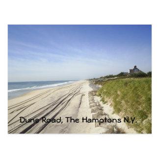 Camino de la duna, el Hamptons N.Y. Postal