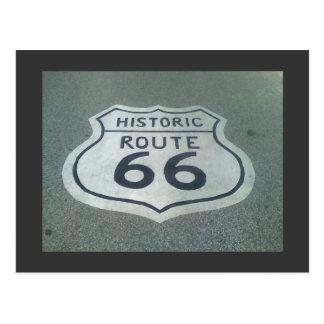 Camino de la madre de la ruta 66 postal