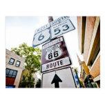 Camino de la madre de la ruta 66 tarjeta postal