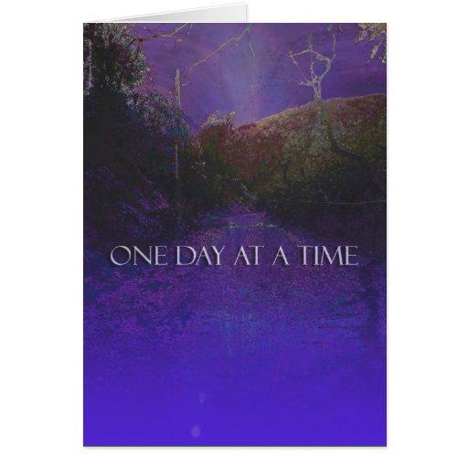 Camino de la montaña púrpura de ODAT Tarjeta De Felicitación