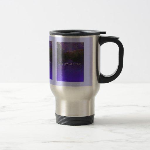 Camino de la montaña púrpura de ODAT Tazas De Café