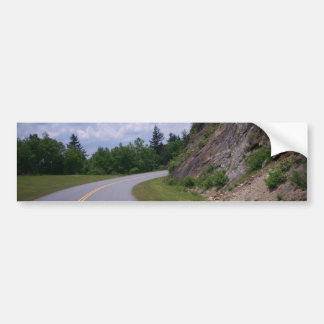 Camino de la roca de la montaña de Ridge azul Pegatina Para Auto