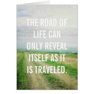 Camino de la tarjeta de la vida