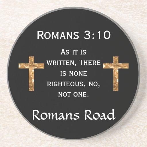 Camino de los romanos, 3:10 de los romanos posavasos diseño