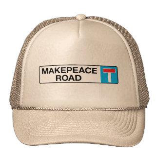 Camino de Makepeace, placa de calle de Londres Gorras De Camionero