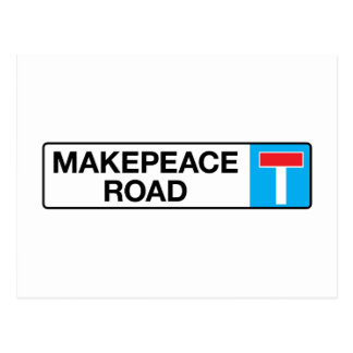 Camino de Makepeace, placa de calle de Londres Tarjeta Postal