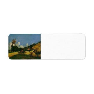 Camino de Paul Cezanne- Etiqueta De Remitente