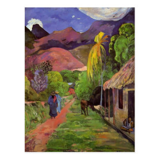 Camino de Paul Gauguin- en Tahití Postal