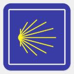 Camino de Santiago Sign, Spain Square Sticker