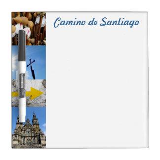 Camino de Santiago Small Whiteboard Dry-Erase Board