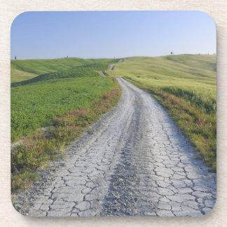 Camino de tierra a través de los campos y de las c posavaso