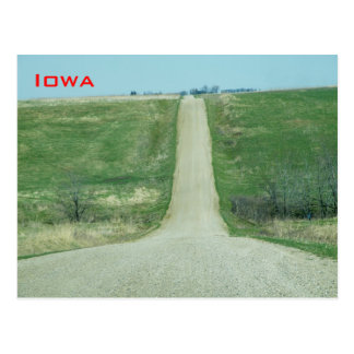 Camino de tierra - Iowa rural Tarjetas Postales