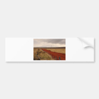 Camino de tierra rojo en Islandia Pegatina Para Auto