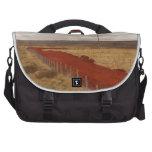 Camino de tierra rojo islandés bolsas para portatil