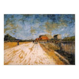 """Camino de Van Gogh que corre al lado de los Invitación 5"""" X 7"""""""