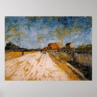 Camino de Van Gogh que corre al lado de los Póster