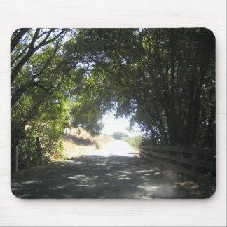 Camino de zona remota de Napa Valley - cojín de ra Tapete De Ratones