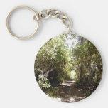 Camino del bosque llaveros personalizados