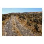 Camino del desierto de Nevada Tarjeta