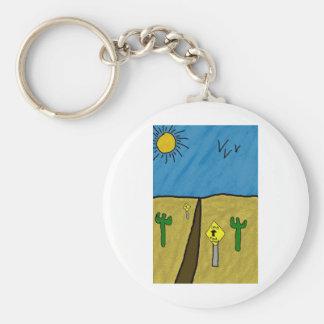 camino del desierto llavero redondo tipo pin
