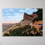Camino del filo del Mesa Verde de Cortez Colorado Posters