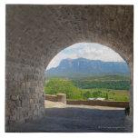 Camino del guijarro, montañas de los Pirineos Azulejos Cerámicos