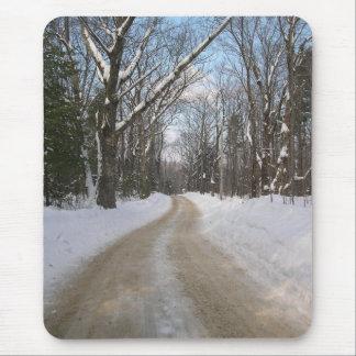 Camino del invierno alfombrillas de ratones