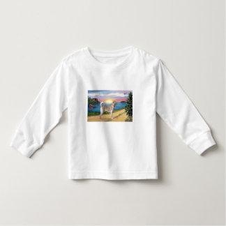 Camino del lago - labrador retriever amarillo t-shirts