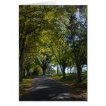 Camino del otoño (espacio en blanco) tarjetón