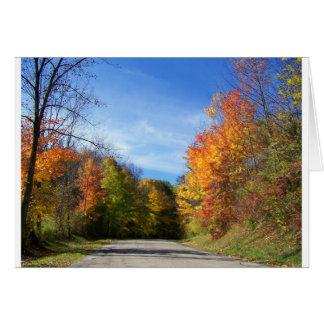 camino del otoño felicitaciones