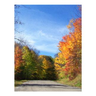 camino del otoño membrete personalizado