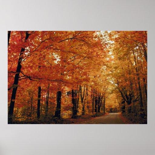 Camino del otoño posters