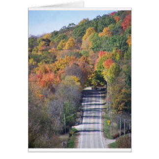 camino del otoño tarjetas