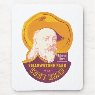 Camino del parque WY Cody de Yellowstone del Alfombrilla De Raton
