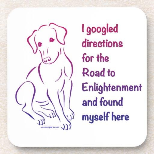 Camino del perrito a la aclaración posavasos de bebida