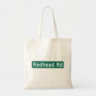Camino del Redhead, placa de calle, Iowa, los Bolsa