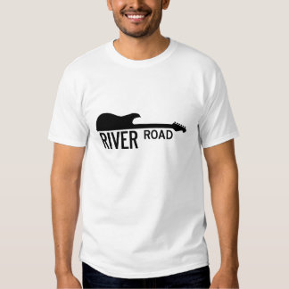 Camino del río - logotipo grande blanco remeras