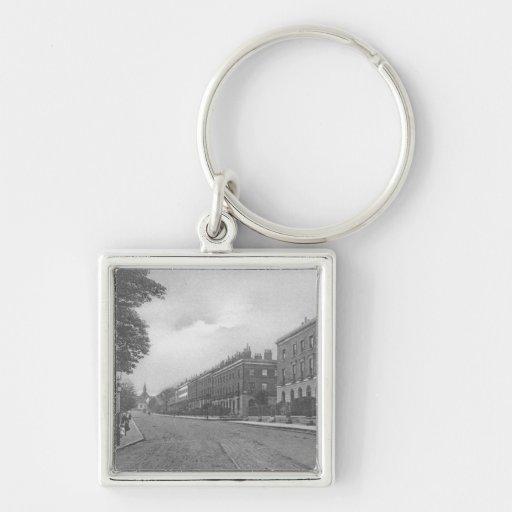 Camino del St. Pauls, Canonbury, Islington, c.1905 Llavero Cuadrado Plateado