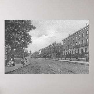 Camino del St. Pauls, Canonbury, Islington, c.1905 Póster
