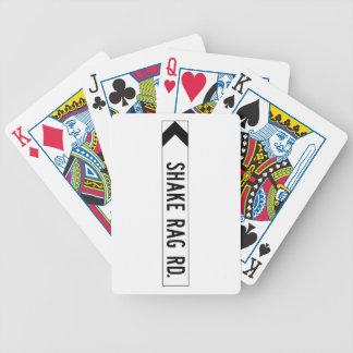 Camino del trapo de la sacudida, placa de calle, baraja cartas de poker