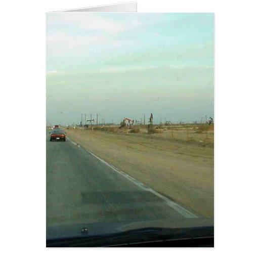 Camino el condado de Kern Tarjeta De Felicitación