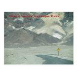 Camino en el desierto tarjeta postal