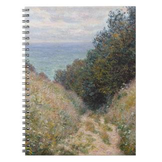 Camino en el La Cavee Pourville de Claude Monet Libretas Espirales