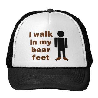 Camino en mis pies del oso gorra